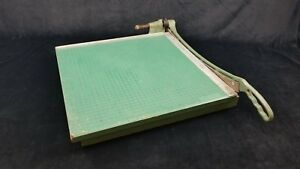 Vintage Premier 19 Guillotine Style Paper Cutter Heavy Duty