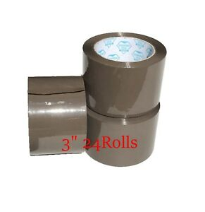 24 Rolls Tan Packing Sealing Tape 3 X 110 Yards X 1 8 Mil Thick Brown Tape