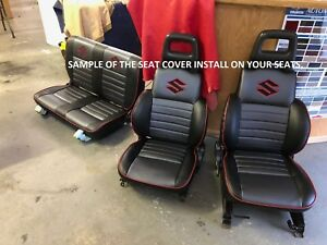 1986 1995 Suzuki Samurai Kit seat Covers And Door Panels Skins