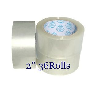 36 Rolls 2 X 330 Clear Packing Packaging Tape 110 Yards 1 8mil