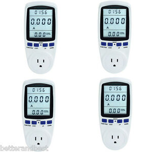 4pc Power Consumption Lcd Analyzer Energy Amps Volt Meter Electricity Monitor Us