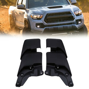 Splash Guards Mud Flaps Mudguards Black Front Rear For 16 18 Toyota Tacoma Kit