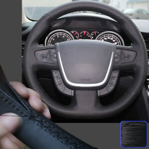 New Steering Wheel Cover Hand Stitch On Wrap For Peugeot 3008 2013 2014 2015 16