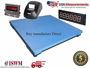 48 X 48 Floor Scale With Printer Scoreboard Warehouse Industrial 10 000 Lb