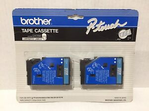 Brother P touch Tape Cassette Tc 12 Blue On Clear