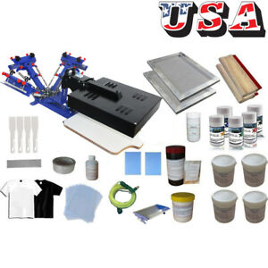 Diy Screen Printing Kit 3 Color Silk Screen Press With Flash Dryer