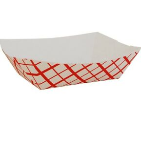 Southern Champion Tray Southland Paperboard Red Check Food Tray 2 5 lb Capacity