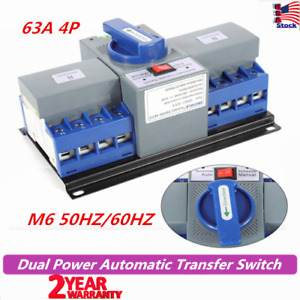 63a 4p Dual Power Automatic Transfer Switch Cb Level M6 50hz 60hz Generator Us