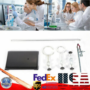50cm Lab Support Stands Platform chemistry Experiment Bottle Tube Clamp Clips