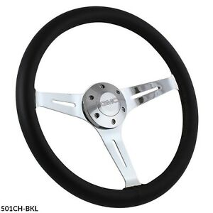 1960 1969 Gmc Truck Suburban Black Leather 15 Steering Wheel With Boss Kit