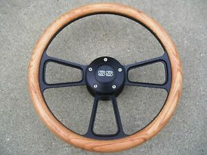 Chevy Camaro 1969 1994 Oak Billet Steering Wheel Ss Horn Adapter Kit
