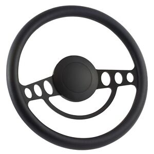 58 60 Ford Thunderbird 14 Inch Black 9 Hole Classic Steering Wheel Black Ha