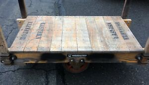 Vintage Industrial Factory Warehouse Dolly Railroad Cart Hamilton
