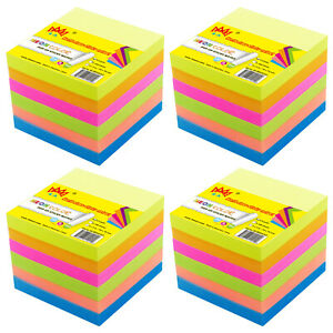 4a Self stick Pop up Note Memo Reminder 3 x3 Neon Assorted Total 2400 Sheets