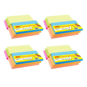4a Sticky Notes Memo Reminder 3 X 5 Neon Assorted 24 Pads Total 2400 Sheets