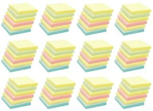 4a Sticky Pop up Notes Memo Reminder 3 X 3 Pastel Assorted Total 7200 Sheets
