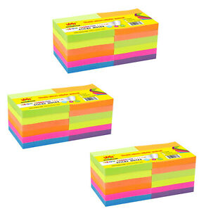 4a Sticky Notes Memo Reminder 3 X 3 Neon Assorted 36 Pads Total 3600 Sheets