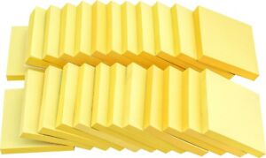4a Sticky Note Office Supplies 3 X 3 Canary Yellow 48 Pads Total 4800 Sheets