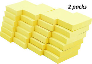 4a Sticky Note Memo Reminder 1 5 X 2 Canary Yellow 48 Pads Total 4800 Sheets