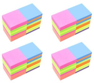 4a Sticky Notes 3 X 3 Memo Reminder Neon Assorted 72 Pads Total 7200 Sheets