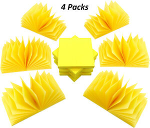 4a Self stick Pop up Notes 3 X 3 Inches Canary Yellow 48 Pads Total 4800 Sheets