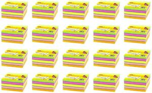 4a Sticky Note Cube Office Supplies 3x3 Neon Assorted 20 Packs Total 8000 Sheets