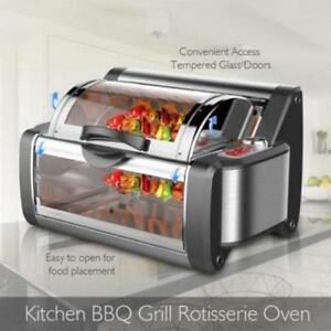Nutrichef Pkrtvg38 Countertop Rotisserie Grill Oven Rotating Cooker