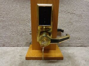 Kaba Simplex Unican Brass Lr1021 Pushbutton Lock Over Ride Core Installed W keys