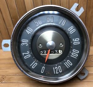 Vintage 120 Mph Chevrolet Dash Speedometer Gauge Oem Chevy Ratrod Ac Made In Usa