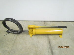 Enerpac P 80 Hydraulichand Pump With Hose And Coupler 6 Hose