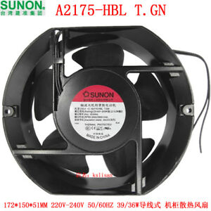 For Sunon A2175 hbt T gn 220v 50 60hz 0 28 0 24a 39 36w 17251 Cooling Fan