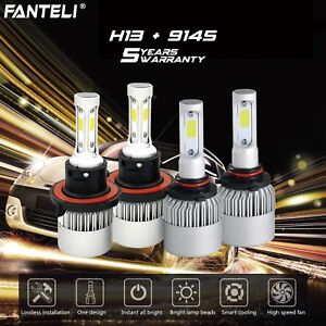 H13 9008 Cree Led Headlight 9145 9140 Fog Lights Combo For 2004 2014 Ford F 150