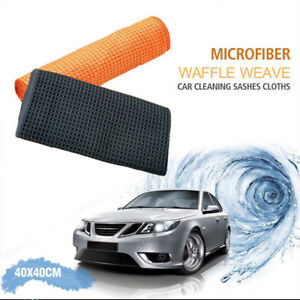 5x Microfiber Towel Soft Car Cleaning Wash Clean Polishing Detail Cloth 40x40cm