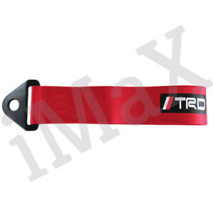 1pcs Red Jdm Trd Racing Drift Rally Car Tow Towing Strap Belt Hook For Toyota
