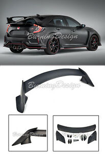 Rear Trunk Wing Spoiler Type R Style For 16 Up Honda Civic Hatchback Body Kit