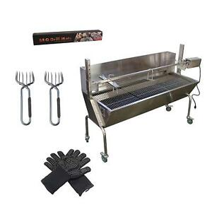 Commercial Bargains Bbq Rotisserie Grill With Back Cover Plus Gloves Grill Mats