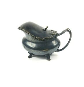 Reed Barton Silver Soldered Gravy Boat Hinged Lid And Fancy Filigree 012 H