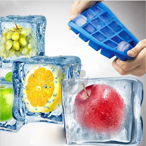 15 Cavity Ice Cube Mould Tray Square Ice Ball Mold Cubes Silicone Drink DIY Tool