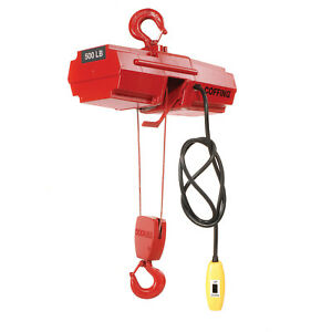 Coffing Electric Wire Rope Hoist 500 Lb Capacity Lot Of 1