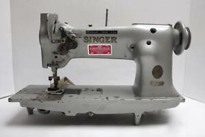 Singer 112wsv110 2 needle Feed 1 Gauge Industrial Sewing Machine Head Only