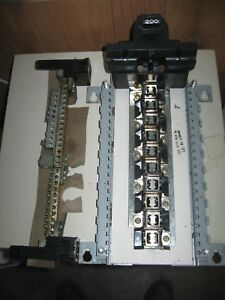 200 Amp Federal Pacific Electric Circuit Breaker Panel W Ground Bar