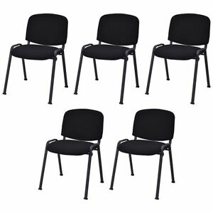 Guest Chair Set Of 5 Conference Barber Shop Salon Waiting Room Reception Office