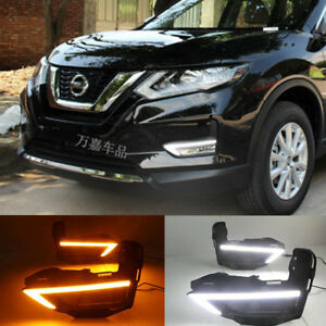 Drl For Nissan Rogue X trail 2017 2018 Led Daytime Running Light Fog Lamp W Turn