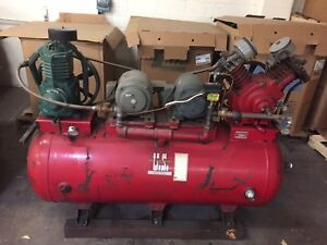 United States Air Compressor Co 10 Hp Compressor With 120 Gallon Tank