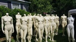 Female Fusion Specialties Realistic Mannequins With Base 16 Flesh 1 White