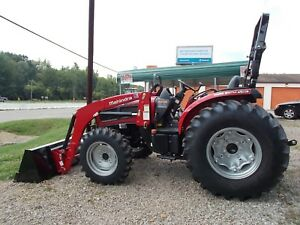 Only 9 Hrs Excellent Cond Mahindra 3550 W Front Loader 49 Hp Engine 4wd