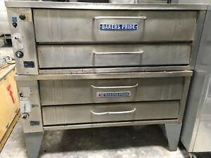 Bakers Pride Double Stack 451 Natural Gas 54 Deck Pizza Oven W Stones