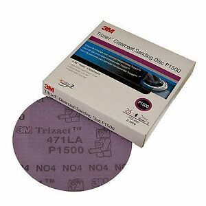 3m Trizact 90743 3 Hookit Clear Coat Sanding Disc 471la P1500 1 Box