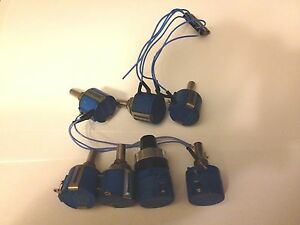 Mixed Lot Of 7 Used Bourns Potentiometers 3 20k 1 50k W dial