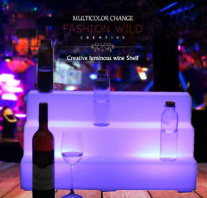 Updated3 Step Led Lighted Glowing Liquor Bottle Display Shelf 26
